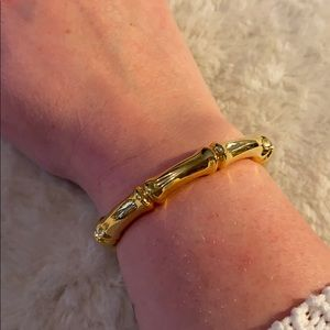 Chunky Bamboo Gold Cuff